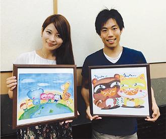 協力者の永井さん(左)と笑顔を見せる高原さん(右)