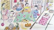 病と闘い、絵を描く