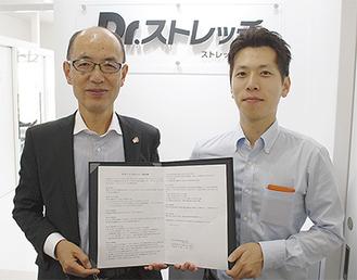 山内代表取締役(左)と小林部長(右)