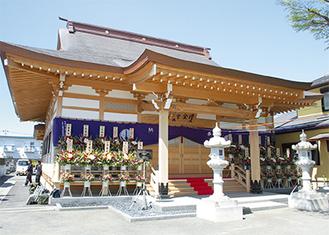 完成した増全寺の本堂