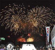 市民の願いで上がる花火
