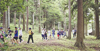愛川ふれあいの村でのウォークラリー体験