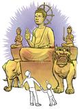5mの「わら釈迦像」出現