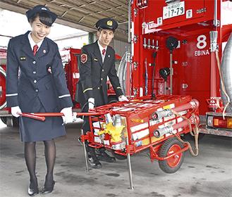 今回配属された消防ポンプ車