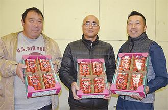 受賞した3農家の代表