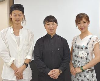 左から祭原さん、小西さん、望月さん
