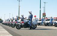 SAで交通安全運動