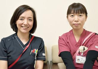羽村さん(右)と上司の木村圭さん