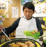 韓国家庭料理を堪能