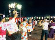相模国分寺跡で盆踊り