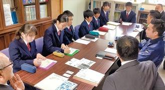 勉強会を実施した生徒ら