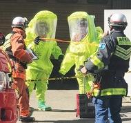 化学防護服で初の出動