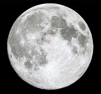 月齢14.1の月 2020年4月7日(火)22時03分12cm反射望遠鏡 (F10 f=1,200mm) 1/30秒=市川修さん撮影