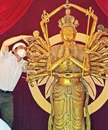 国重文の仏像を輸送