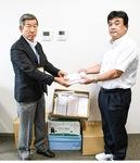 樋口会長と大島会長(右)