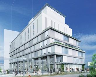 海老名駅自由通路から見た外観イメージ(小田急提供)