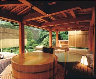 一例のホテル南風荘 露天風呂