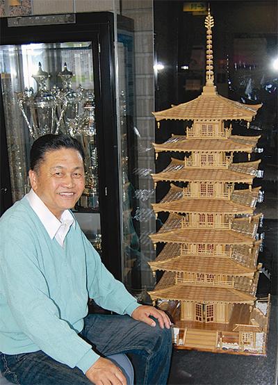 「竹の七重の塔」が話題に
