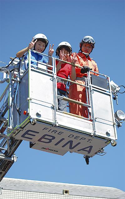 「将来は消防士に」