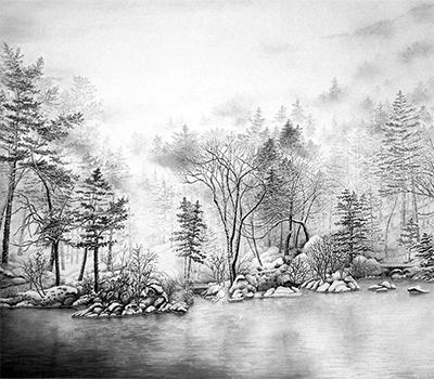 白と黒で描く自然美