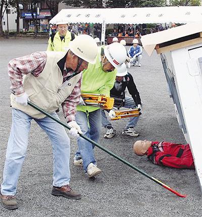 震災に備え体験訓練