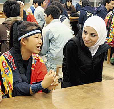 アラブ人と交流