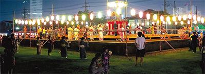 相模国分寺跡で5千人が盆踊り