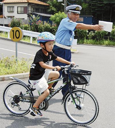 安全な自転車運転術を学ぶ