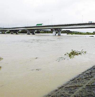 大雨の影響 市内にも