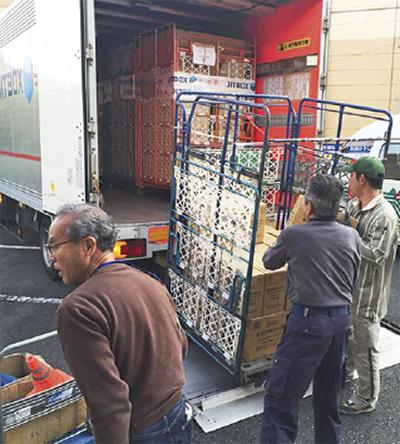熊本支援に物資を送付