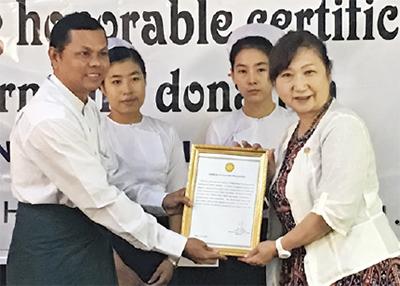 ミャンマーで人道支援