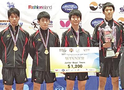 卓球日本代表が団体優勝