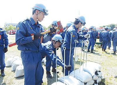 水防訓練を実施