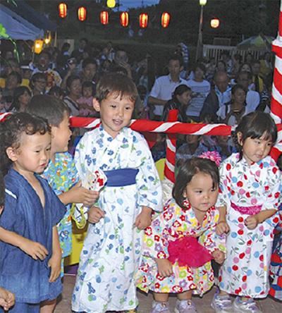 みのり幼稚園で夏祭り