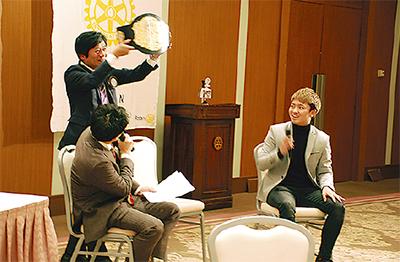 西京選手がトークショー