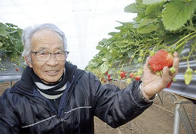 県知事賞に選ばれた遊作農園の遊作英夫代表