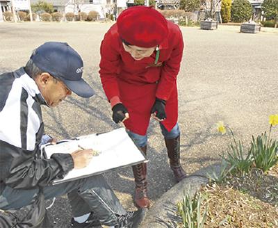 三川公園で絵画教室