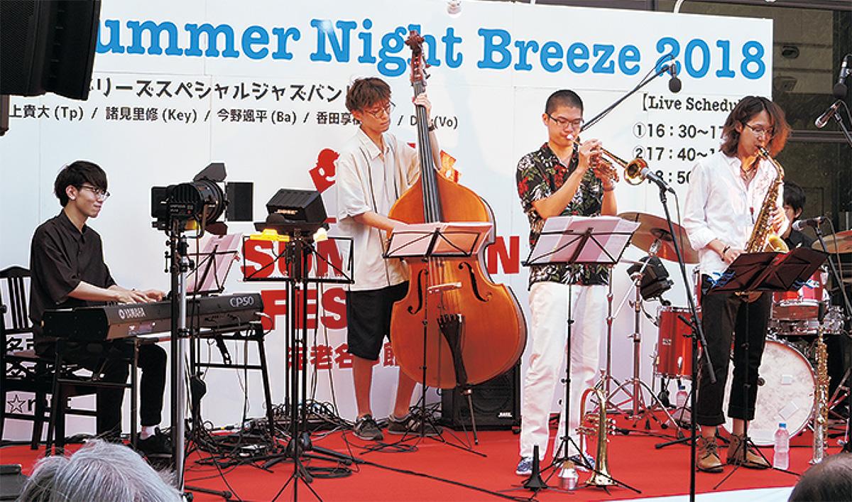 真夏の夜のジャズライブ