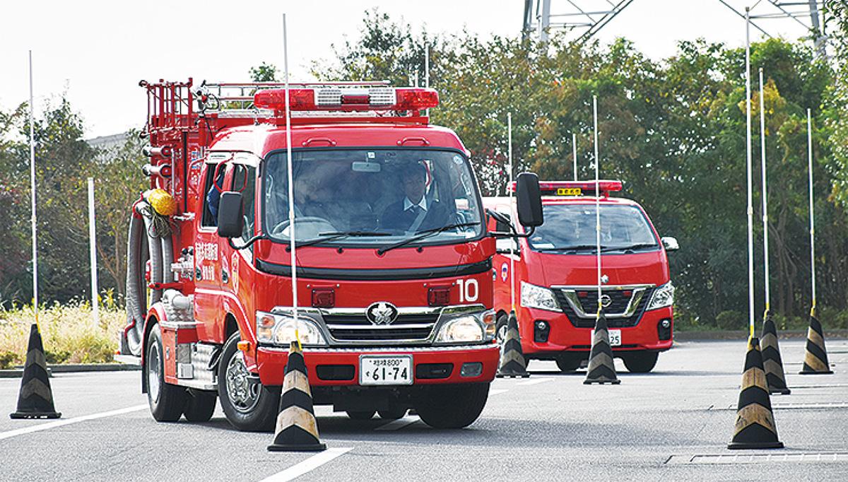 消防団員が安全運転講習
