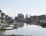 東日本大震災では大半の住宅が津波によって破壊された