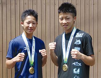 切磋琢磨する兄・尚弥さん(右)と弟・拓真さん(左)