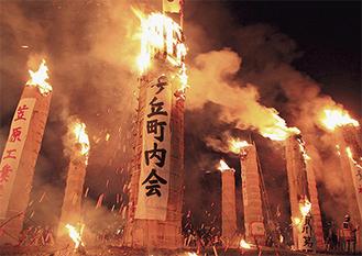 420年以上続く「松明あかし」に参加する※写真提供/須賀川市役所