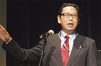 京都大学の林教授が講演した