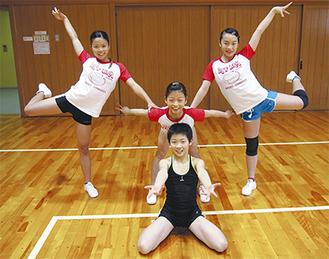 後列左から菊永さん、今村さん、齊藤さん。今村さんの弟・一歩君も出場する