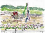 大凧まつりなど伝統行事も作品の題材に
