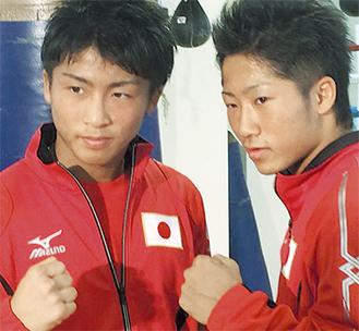 30日は、尚弥選手(左)と弟・拓真選手が揃って試合。お互いの対戦相手も兄弟という、「兄弟対決」となった※写真提供/後援会