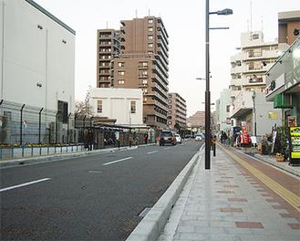 工事を終え、広く開放的になった市道5号線