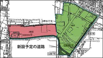 再開発エリアの俯瞰図※市ホームページより抜粋