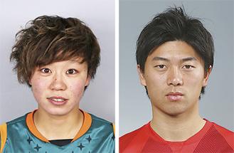 活躍した武藤選手(右)と杉田選手。※写真はそれぞれ浦和レッズと伊賀FCより提供