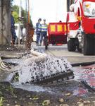 昨年10月の台風では、ポンプの排水作業が行われた
